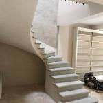 Escalier béton gris