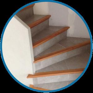 Fabrication et pose d 39 escalier en b ton carrel - Nez de marche pas cher ...