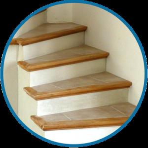 Fabrication et pose d 39 escalier en b ton carrel - Poser du carrelage sur un escalier ...