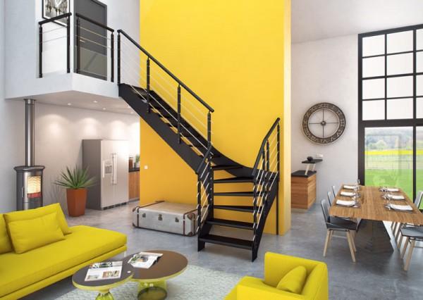 Escalier en métal design