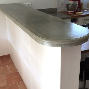 fabrication plan travail cuisine beton
